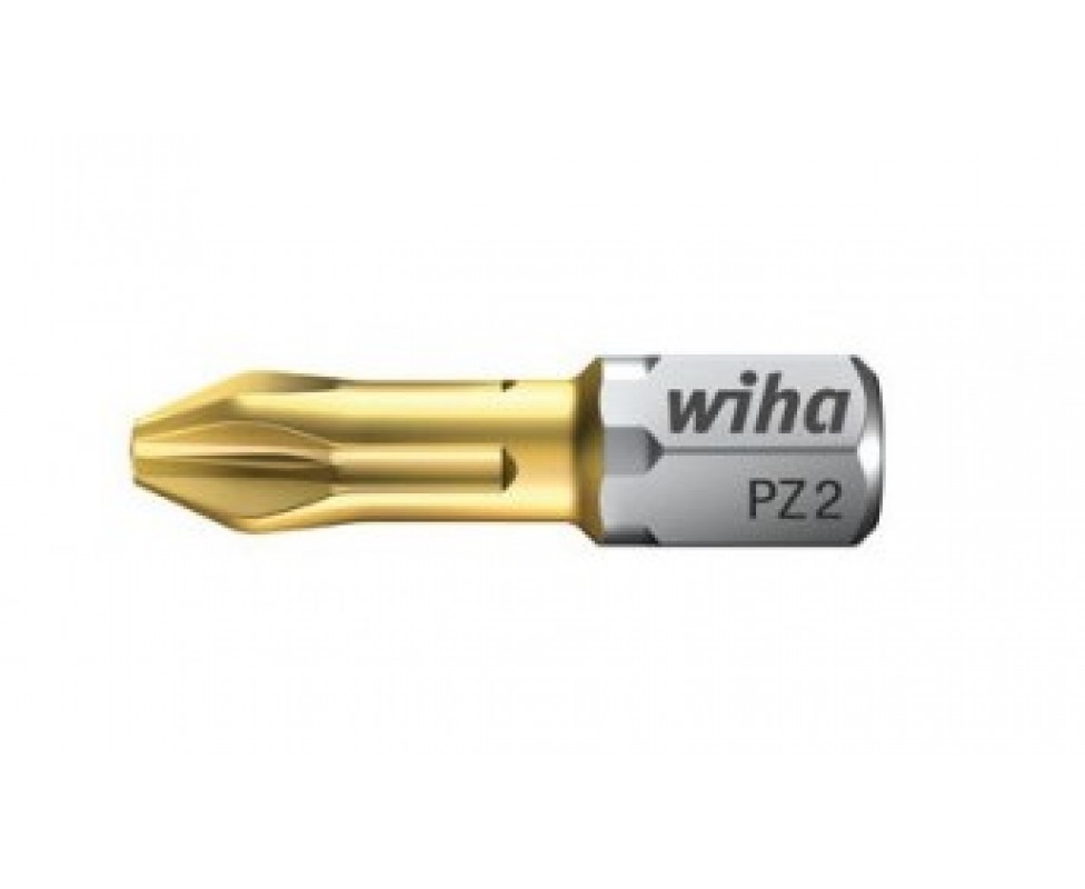 Биты Wiha TiN Torsion Pozidriv C 6,3