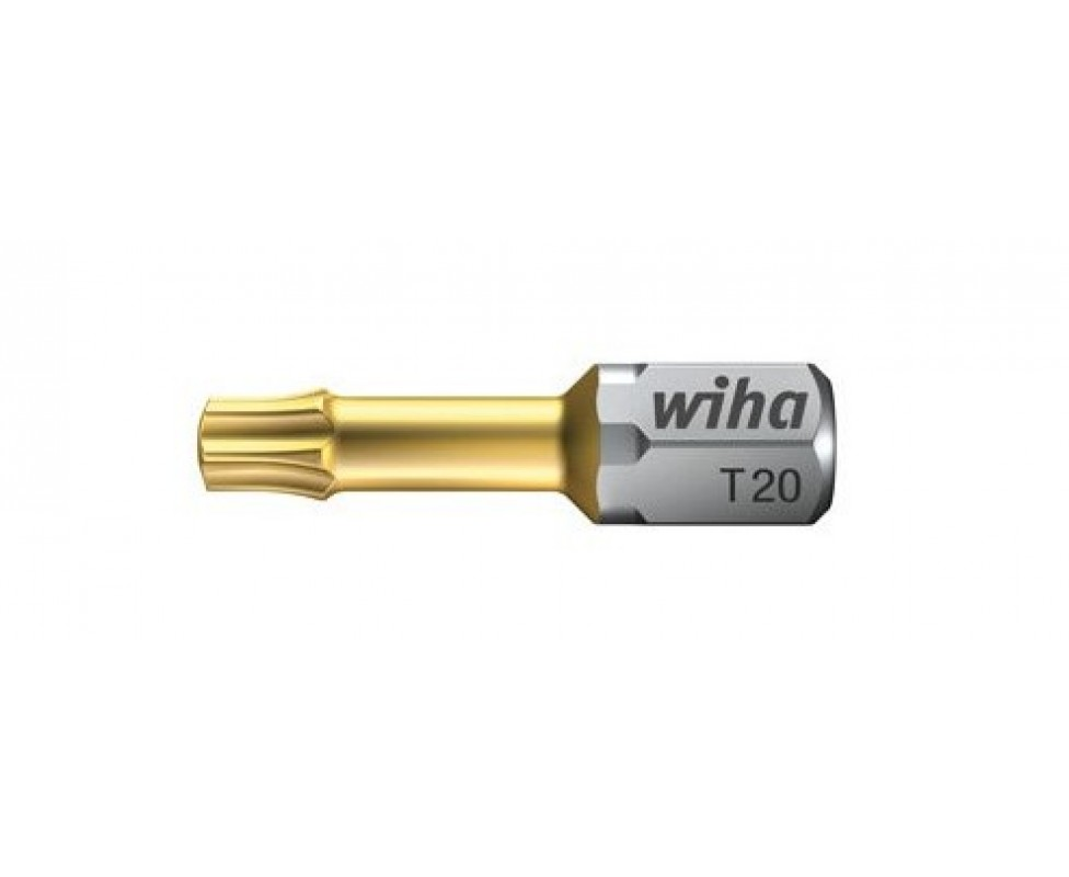 Биты Wiha TiN Torsion TORX C 6,3