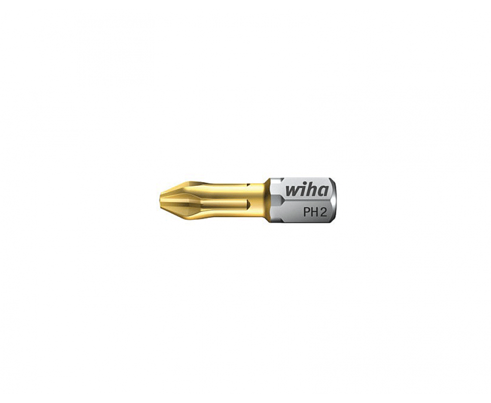 Биты Wiha TiN Torsion Phillips